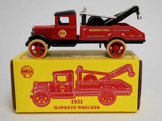 SHEll 1931 HAWKEYE WRECKER BANK ERTl 7