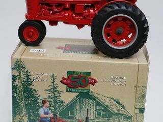 FARMAll H TRACTOR WITH FIGURINE 50TH ANNIVERSARY