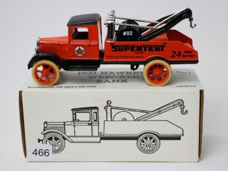 SUPERTEST 1931 HAWKEYE WRECKER BANK 1 34 ERTl