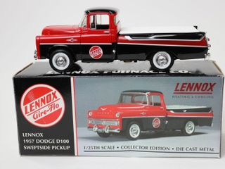 lENNOX 1957 DODGE D100 SWEPTSIDE PICKUP BANK