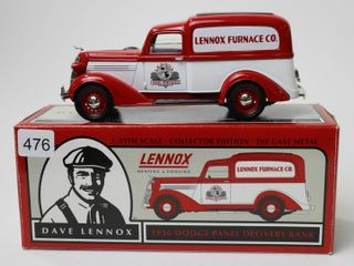 lENNOX FURNACE CO 1936 DODGE PANEl VAN BANK 1 25
