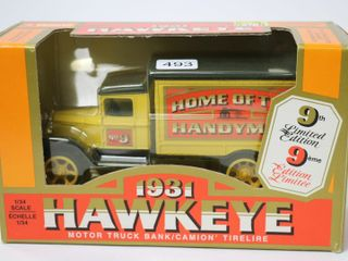 HOME HARDWARE 1931 HAWKEYE TRUCK BANK 1 34 ERTl