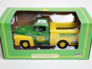 JOHN DEERE 1956 FORD PICK UP BANK DIE CAST