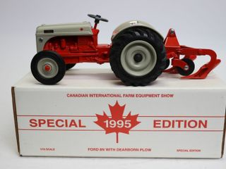 FORD 8 N WITH DEARBORN PlOW CIFES 1995 ERTl 1 16