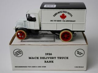 ElMIRA MAPlE SYRUP FESTIVAl1926 MACK TRUCK BANK