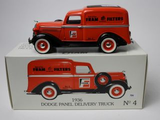 FRAM 1936 DODGE PANEl DElIVERY TRUCK BANK 7