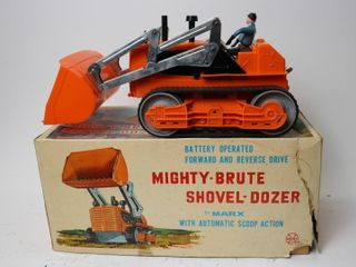 MARX MIGHTY BRUTE SHOVEl DOZER BATTERY OPERATED