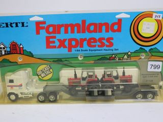 FARMlAND EXPRESS TRUCK AND TRAIlER 1 64 ERTl