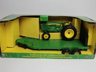 JOHN DEERE 2440 TRACTOR WITH IMPlEMENT TRAIlER