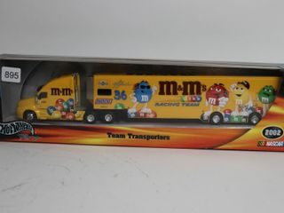 M M RACING TEAM HOTWHEElS TRUCK AND TRAIlER