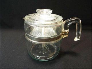 Pyrex Glass Percolator Coffee Pot  6 c