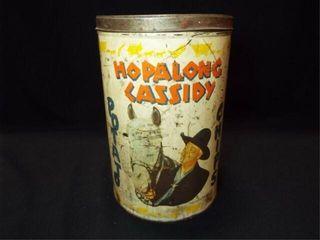 1950 Hopalong Cassidy Potato Chip Can