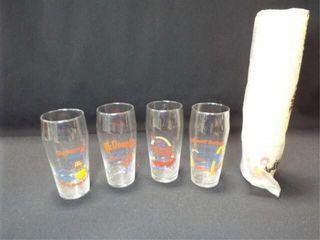 McDonald s Glasses  4  Paper Cups