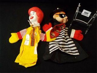 McDonald s Ronald  Hamburgler Puppets