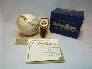 1992 Fossil Nolan Ryan Signed Ball  Watch