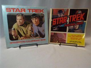 1976  1977 Star Trek Calendar  Postcard Book