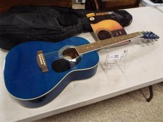 Ventura Blue Handcrafted Guitar  Bag