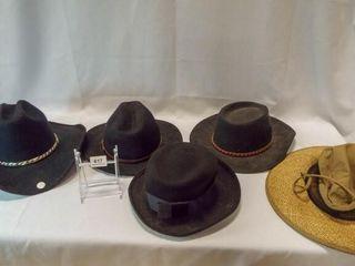 Hats   Felt  4  Straw
