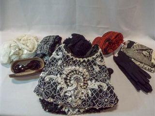 Beaded Dress  Scarves  Gloves  Etc