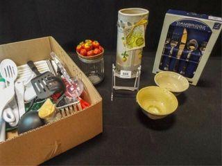Kitchen Items  Flatware  Utensils   1 box