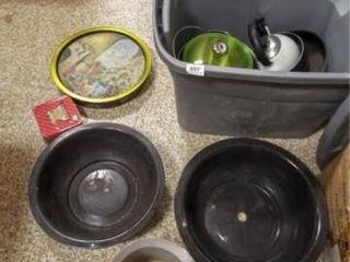 Pots  Pans  Tins   1 tub