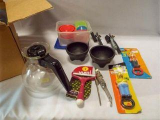 Kitchen Utensils  Kettle  Etc   1 box