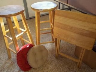 Folding Table  Bar Stools  2