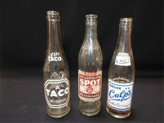 Glass Beverage Bottles   Taco  Spot  Culp s