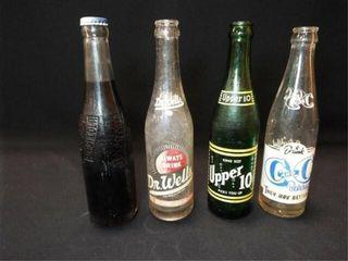 Glass Beverage Bottles Dr  Wells  Upper 10