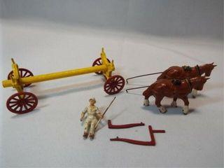Metal   Wood Wagon  Horses