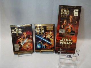 DVDs   Star Wars I  II  III