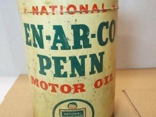En Ar Co Penn Motor Oil Can  no top