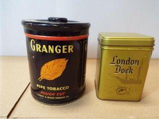 Tobacco Tins  Granger  london Dock  2
