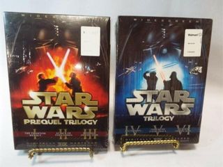 Star Wars Sets  2 sets   3 DVDs each