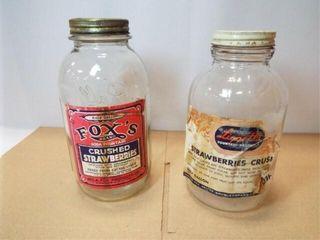 Glass Strawberry Jars  2