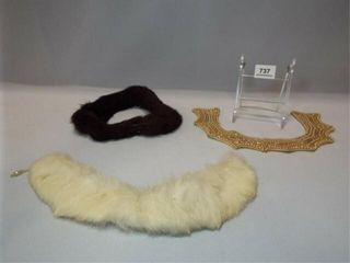 Collars   Beaded  Mink  3