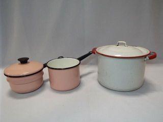 Enamelware Pots  3