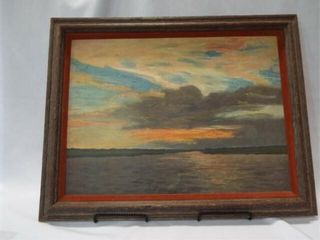 Sunset Art  Framed  28 x 23