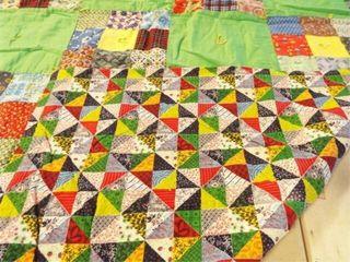Pieced Quilt  78  x 67