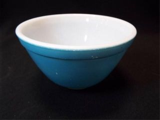 Blue Pyrex Bowl  5 5