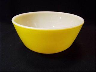 Yellow Fire King Bowl  8