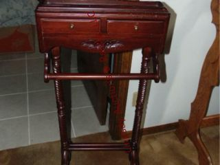 Wood Butler stand 18 x 11  x 47