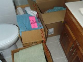 3 boxes  hand towels  towels   other