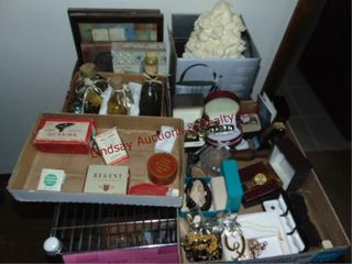 4 boxes  matches  costume jewelry  old advertising