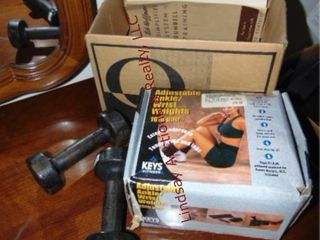 Dumbbells  3 lb  ankle weights  other weights