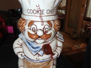 Cookie chef ceramic cookie jar