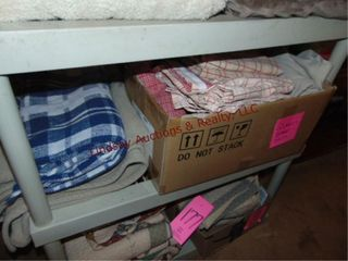 Box w  queen sheets   throw blankets