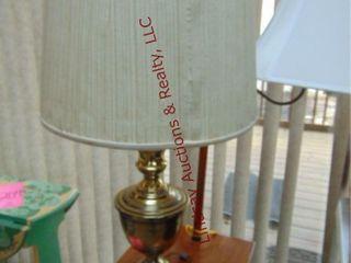 Brass lamp 30  tall