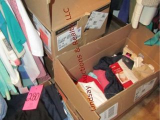 4bxs of women s clothes  socks  jeans  sweats
