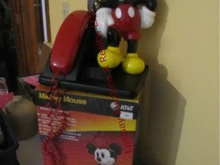 Mickey Mouse telephone w  box SEE PICS